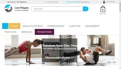 Site internet de Les 4 Nages