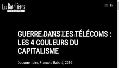 Site internet de Les Batelieres Productions
