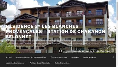 Site internet de Les Blanches Provencales
