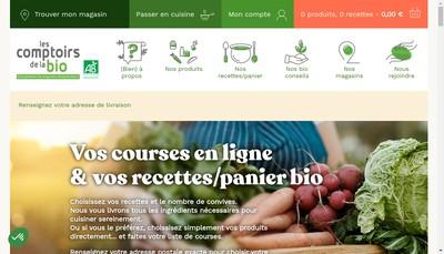 Site internet de Les Comptoirs de la Bio