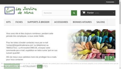 Site internet de Les Jardins de Nana