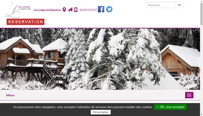 Site internet de Les Lodges de Babylone