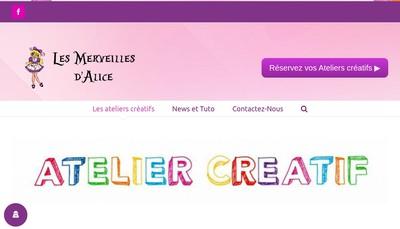 Site internet de Les Merveilles d'Alice