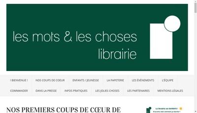 Site internet de Les Mots et les Choses