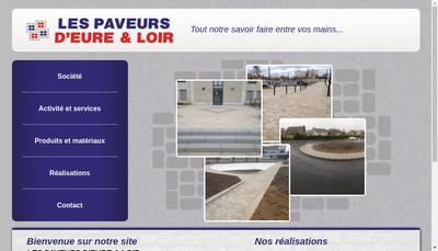 Site internet de Les Paveurs d'Eure et Loir