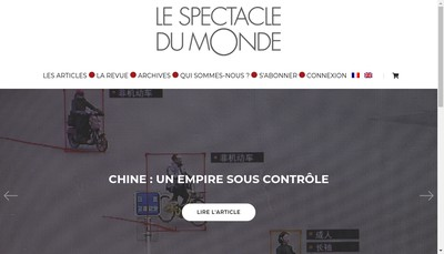 Site internet de Valeurs Actuelles-le Spectacle du Monde