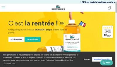 Site internet de Les Petits Bidons