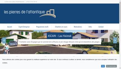 Site internet de Les Pierres de l'Atlantique