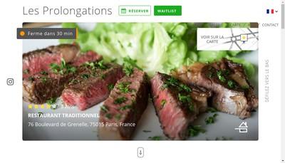Site internet de Les Prolongations