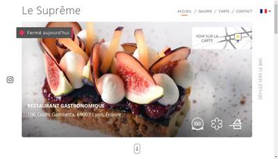 Site internet de Le Supreme
