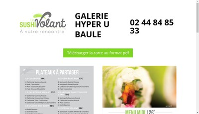 Site internet de Le Sushi Volant
