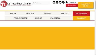 Site internet de Le Travailleur Catalan