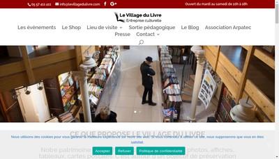 Site internet de Le Village du Livre