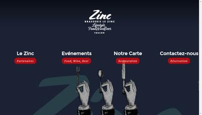 Site internet de Le Zinc