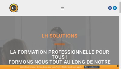 Site internet de Lh Solutions