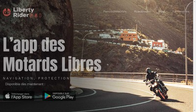 Site internet de Liberty Rider