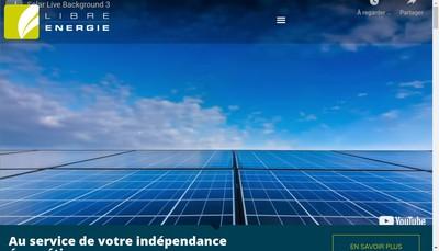 Site internet de Libre Energie
