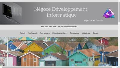 Site internet de Negoce Developpement Informatique