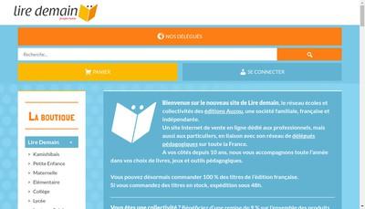 Site internet de Lire Demain