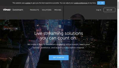 Site internet de Live Stream Center
