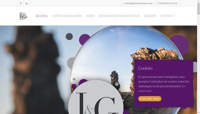 Site internet de L'et G Financement