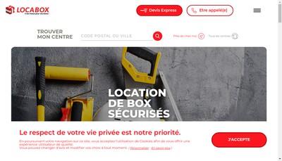 Site internet de Locabox Annemasse