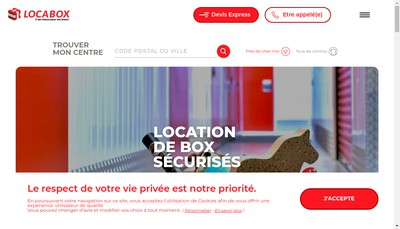 Site internet de Locabox Montauban