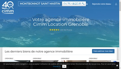 Site internet de Miribel Immobilier