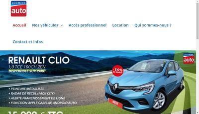 Site internet de Locmine Automobiles