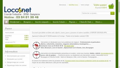 Site internet de Franche Comte Deratisation