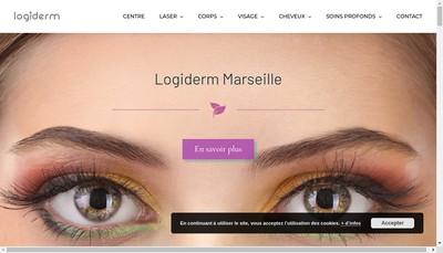 Site internet de Logiderm Marseille Prado