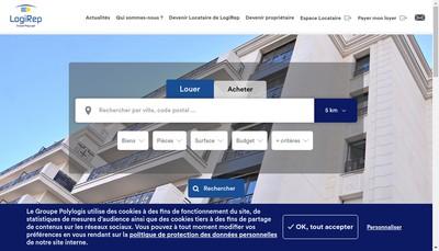 Site internet de Logirep Logistic