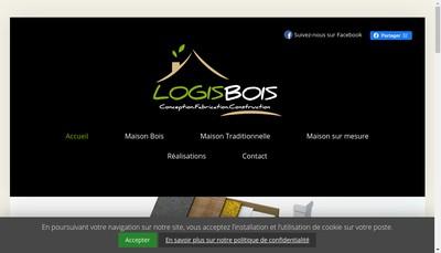 Site internet de Logisbois et Logistradi