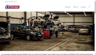 Site internet de Loirauto O'Garage