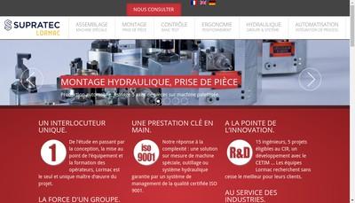 Site internet de Supratec Lormac