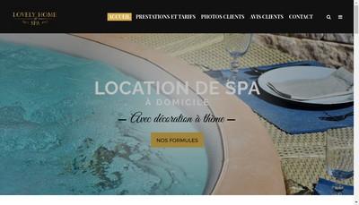 Site internet de Lovely Home Spa