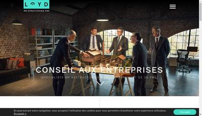 Site internet de Aston Loyd Consulting