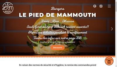 Site internet de Le Pied de Mammouth