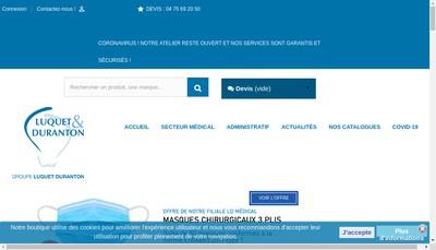 Site internet de Luquet & Duranton