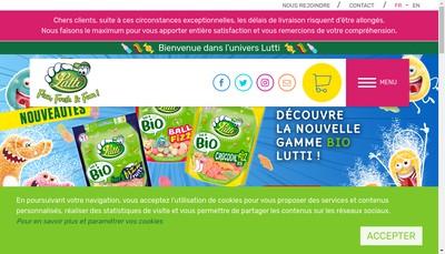 Site internet de Lutti