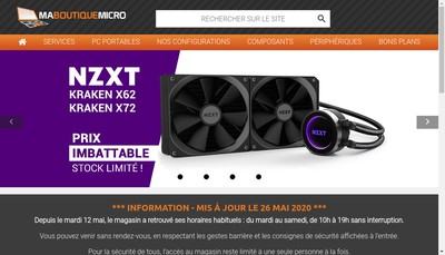 Site internet de Ma Boutique Micro