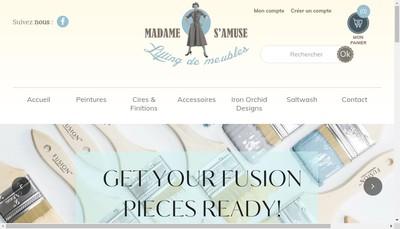 Site internet de Madame S'Amuse