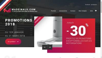 Site internet de Made In Alu