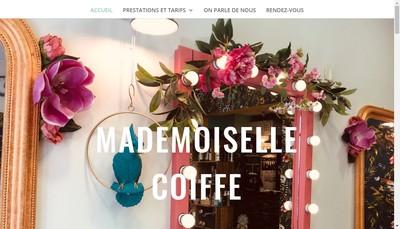 Site internet de Mademoiselle Coiffe