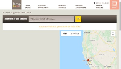 Site internet de La Mie Caline
