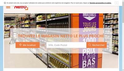 Site internet de Netto