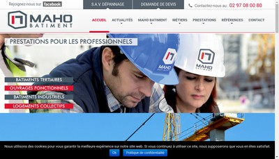Site internet de Maho Batiment