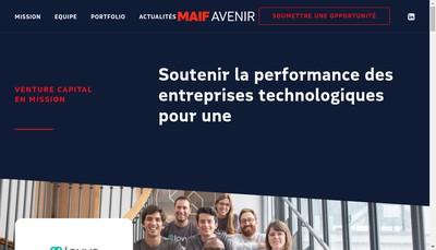 Site internet de Maif Avenir