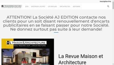 Site internet de Maison & Architecture