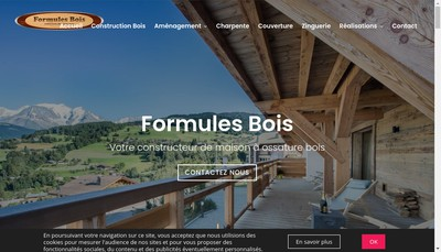 Site internet de Formules Bois